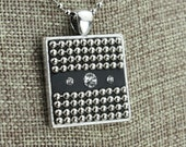 Beaded Bling - Ball Chain and Crystal Pendants - Embedded in Black Clay