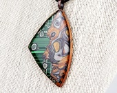 Liquid Metal Circuit #2- UNIQUE Upcycled Circuit Board, Polymer Clay, & Resin Art Jewelry