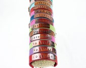 CUSTOM Copper and Leather Bracelets - Wishes - Inspirational Sayings - Names - Made to Order