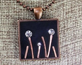 """Crystal and Copper Flower Garden """"Bling"""" Pendant - MADE TO ORDER"""