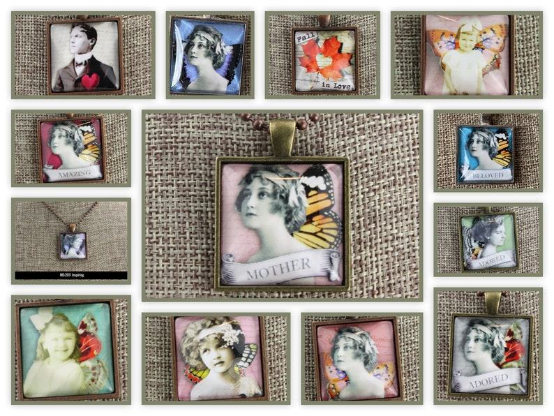 Collage Charm Pendants  Wonderful for Mother's Day  image 0