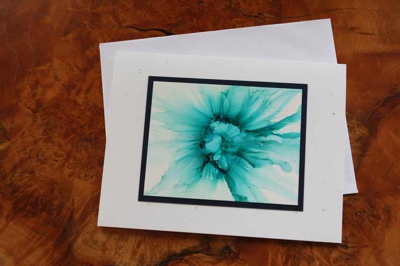 SINGLE Handmade Greeting Card  Pick Your Color  Made TO Teal