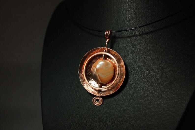 Zion Park Memories  OOAK Copper and Stone Necklace image 0