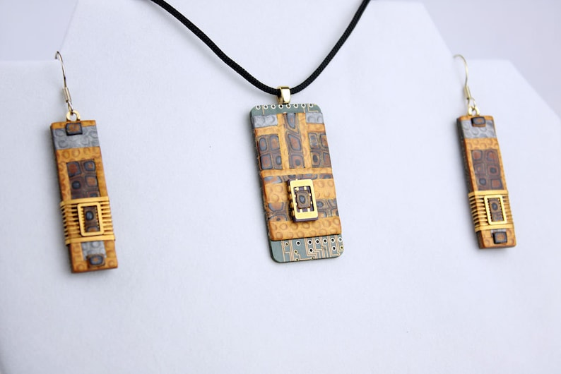 Polymer Circuit Chip Set  UNIQUE Circuit Board & Polymer Clay image 0