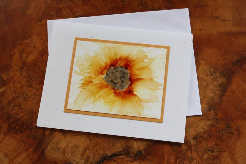SET of 5 Handmade Greeting Card  Pick Your Color  Made TO Yellow