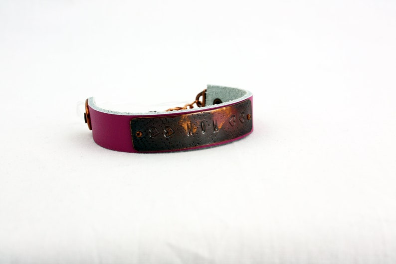 Birthday MOM Bracelet Hand-Stamped Copper /& Leather Adjustable Mother/'s Day
