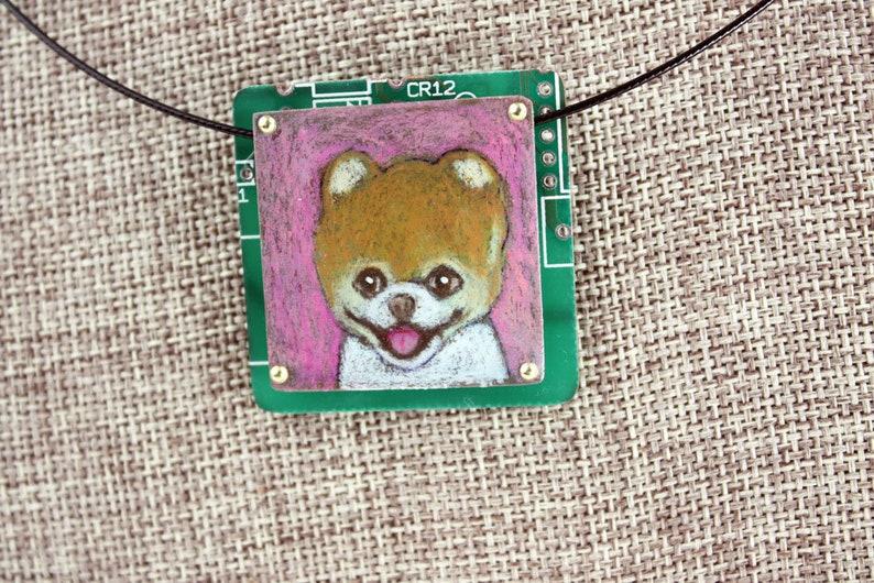 Pomeranian Pendant Pinky  Colored Pencil Drawing image 0