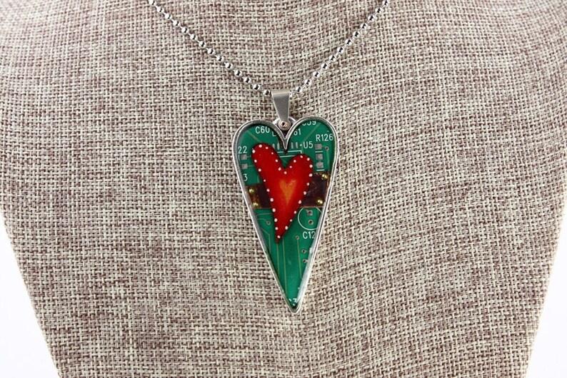 Heart Pendant / Necklace  Unbroken Heart in Heart  Love / image 0