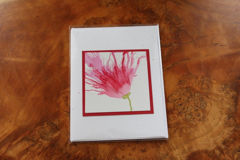 Set of 3 Handmade Greeting Cards  Floral Bloom  Blank Note image 0