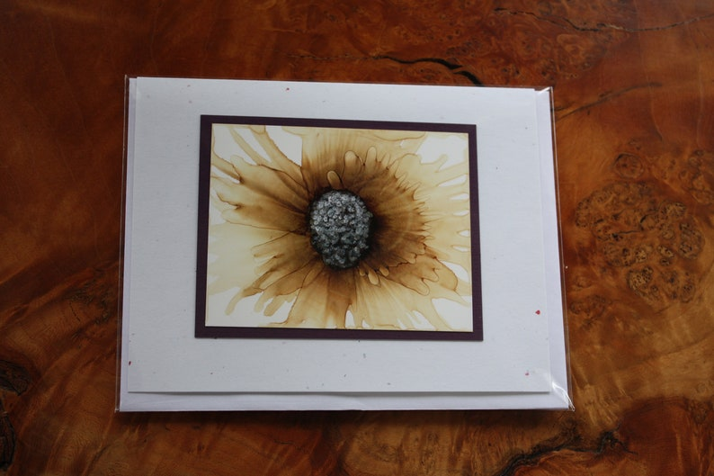 Set of 5 Handmade Greeting Cards  Floral Bloom  Pale image 0