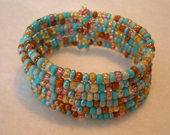 Southwest Inspired Memory Wire Cuff