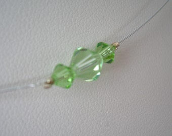 Peridot Swarovski Crystal Satellite Necklace