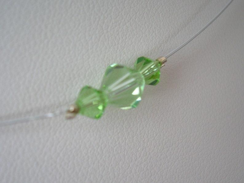 Peridot Swarovski Crystal Satellite Necklace image 0