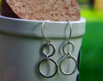 xs open circle chandelier earring.