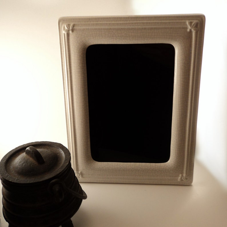 Winter Spirit Black Scrying Mirror with Crackle Effect image 0