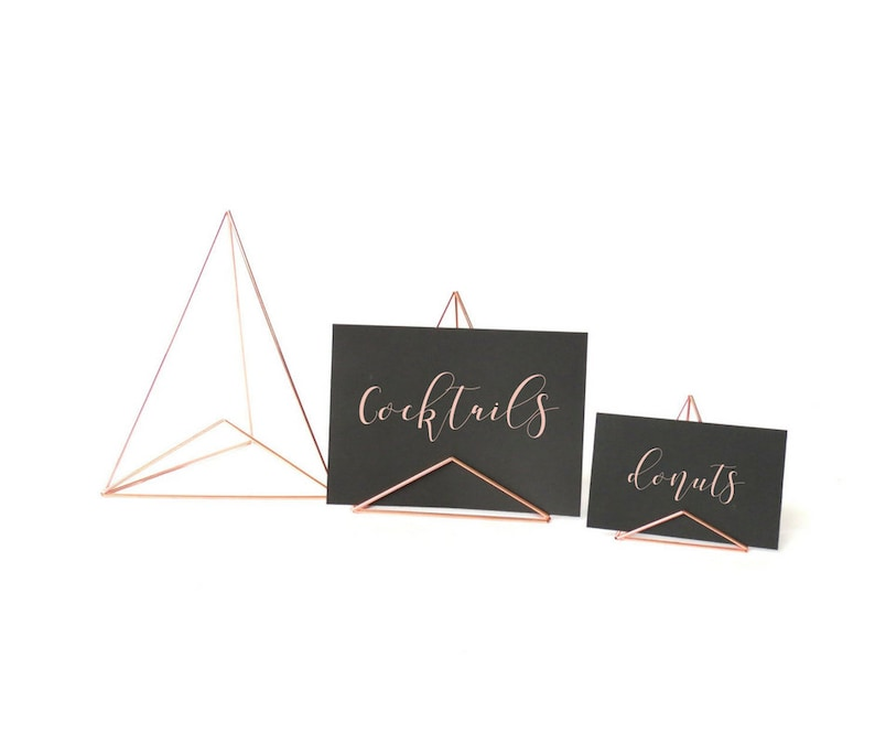 Mod Sign Holders  3 size options: Brass Rose Gold Silver image 0