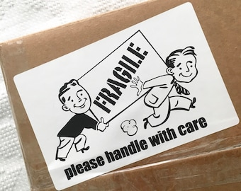 Download Fragile Shipping Sticker. Handle With Care Sticker. Fragile Label. DIY Printable Packaging. Shipping Boxes. Shipping Supplies. Dymo