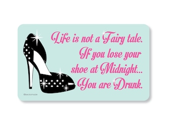You are Drunk Fairy tale Magnet. Gift under 5. Fridge Magnet. Kitchen Magnet. Kitchen Signs. Secret Santa Gift. Gift for Friend or Coworker.