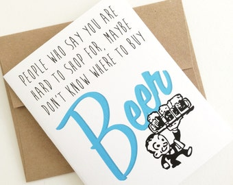 Beer Birthday Card. Birthday Card for Boyfriend. Guys Birthday. Card for Men. Beer Drinker. Hard to Shop for Card. Made in the Midwest.