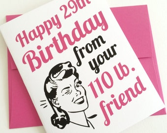 30th Birthday Card. 30th Birthday for Her. Over the Hill Party. Best Friend Birthday Gift. Funny Birthday Card. Birthday Gifts for Her. Bday