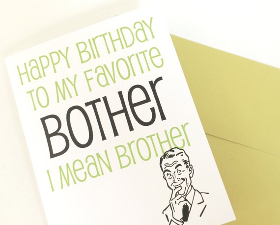 Happy Birthday Card For Brother Brothers Birthday Card Etsy