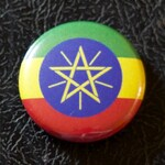 "1"" Ethiopia flag button, pin, badge, pinback, magnet, flatback, Made in USA"