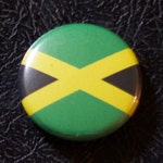 """1"""" Jamaica flag button, pin, badge, pinback, magnet, flatback, Made in USA"""