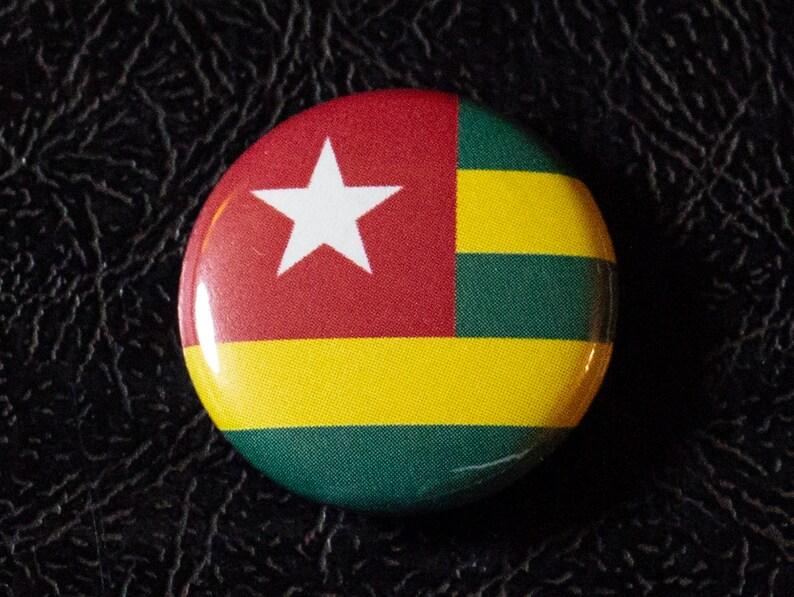 1 Togo flag button pin badge pinback magnet image 0