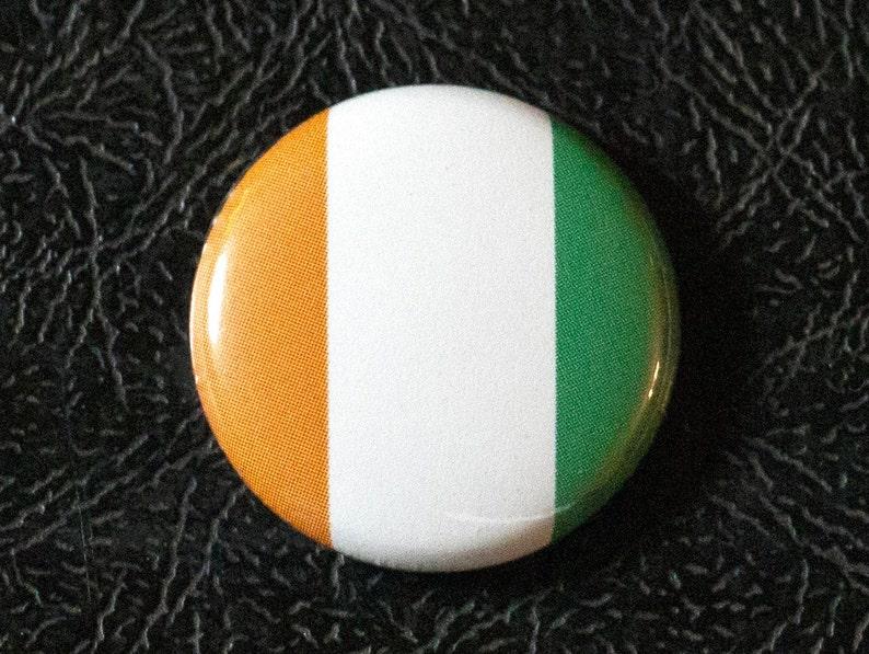1 Ivory Coast flag button pin badge pinback magnet image 0