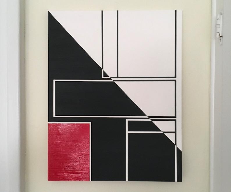 11x14 ORIGINAL abstract painting ready to hang  art image 0