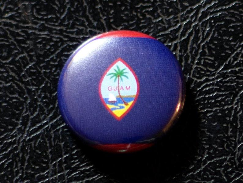 1 Guam flag button pin badge pinback magnet image 0