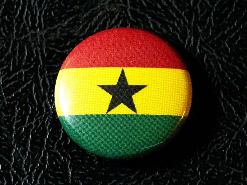 1 Ghana flag button pin badge pinback magnet image 0