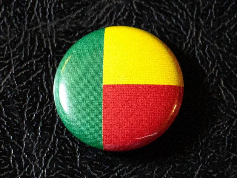 1 Benin flag button pin badge pinback magnet image 0