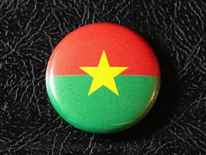 1 Burkina Faso flag button pin badge pinback magnet image 0