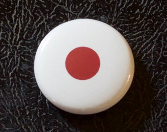 "1"" Japan flag button, country, pin, badge, pinback, Made in USA"