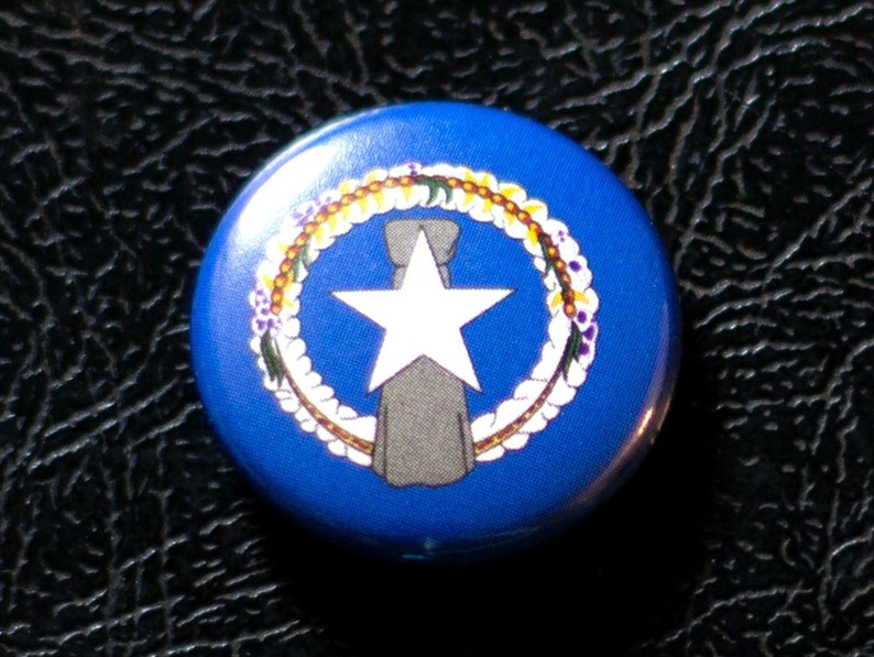 1 North Mariana Islands flag button pin badge image 0