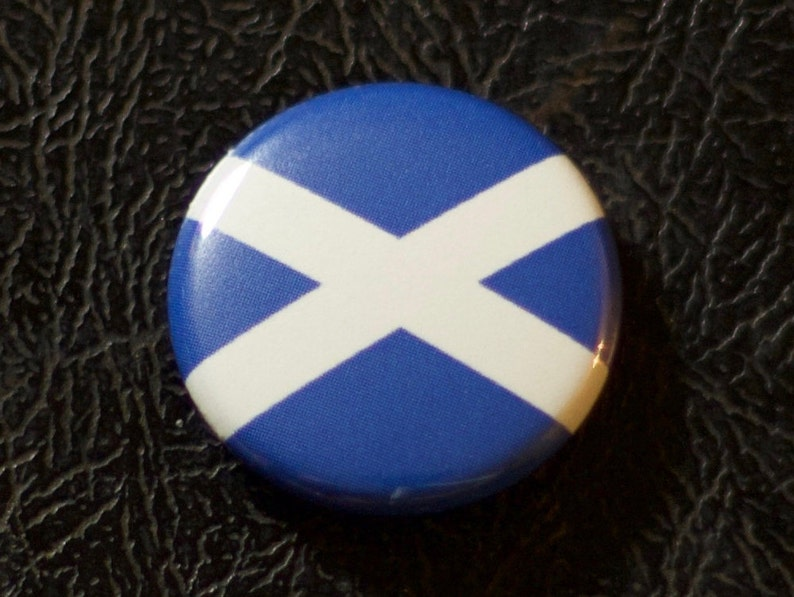 1 Scotland flag button pin badge pinback magnet image 0