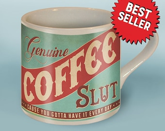 Coffee Slut Mug by Trixie & Milo -  Ceramic Mug - Comes in a Fun Gift Box - Birthday/Anniversary/Wedding Gift