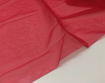 "30x30 cm / 12x12"" — non-stretch bra frame stabilizer nylon tricot, red"