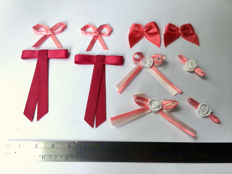10 pc. assortment of bra charms / satin ribbon bows pink /   Etsy