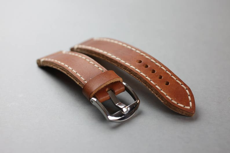 Classic Vintage  Leather Watch Strap  Watch strap 20mm  image 0
