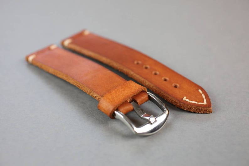 Milsub Leather Watch Strap  Vintage leather watch strap  image 0