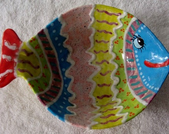 Fishy Bowl - Ceramic Cereal Bowl - What a Fun Way to have Breakfast
