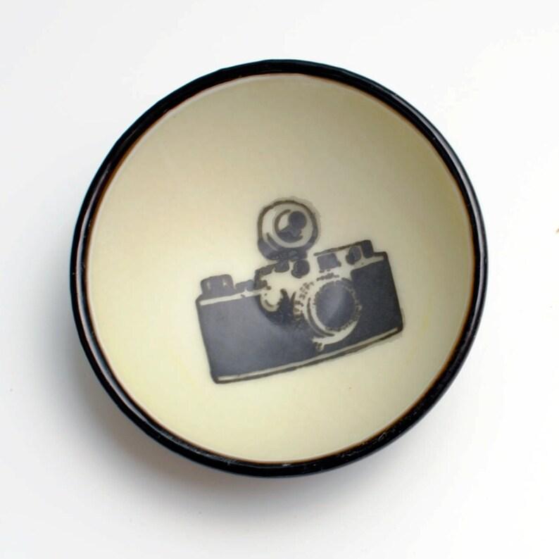 Bol en verre fusionné petit appareil photo