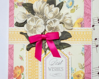 Best Wishes Card, Card for Wedding, Handmade Wedding Card, Congratulations Card, Engagement Card, Any Occasion Card, Baby Card