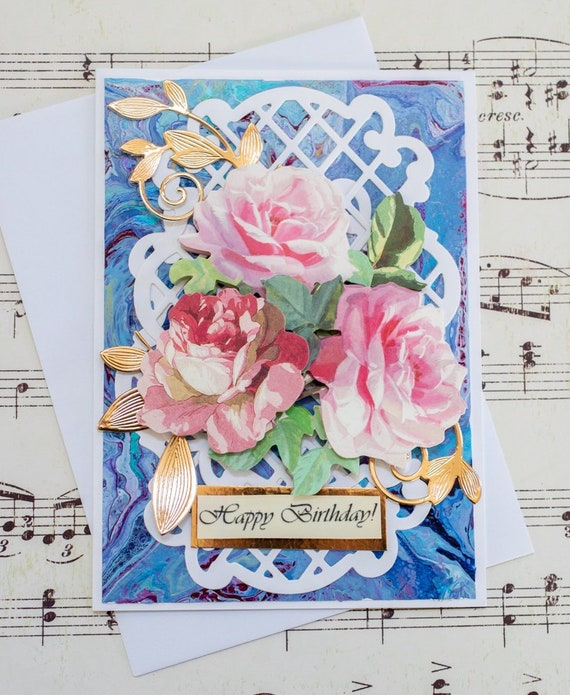 Handmade Birthday Card For Friend Card For Wife Girlfriend Etsy