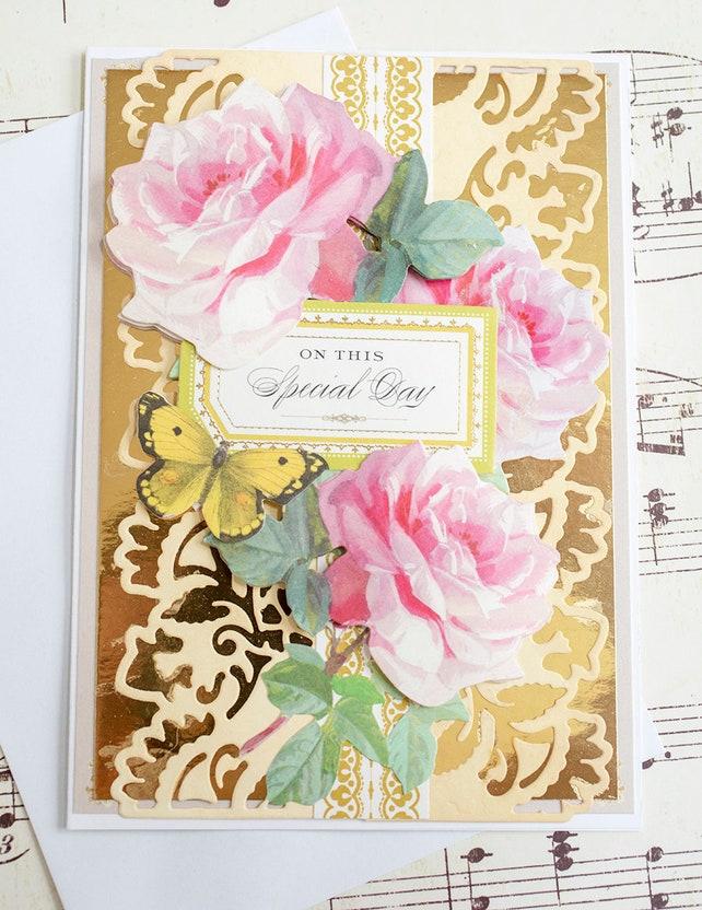 Elegant Wedding Card Unique Handmade Wedding Card Wedding Gift