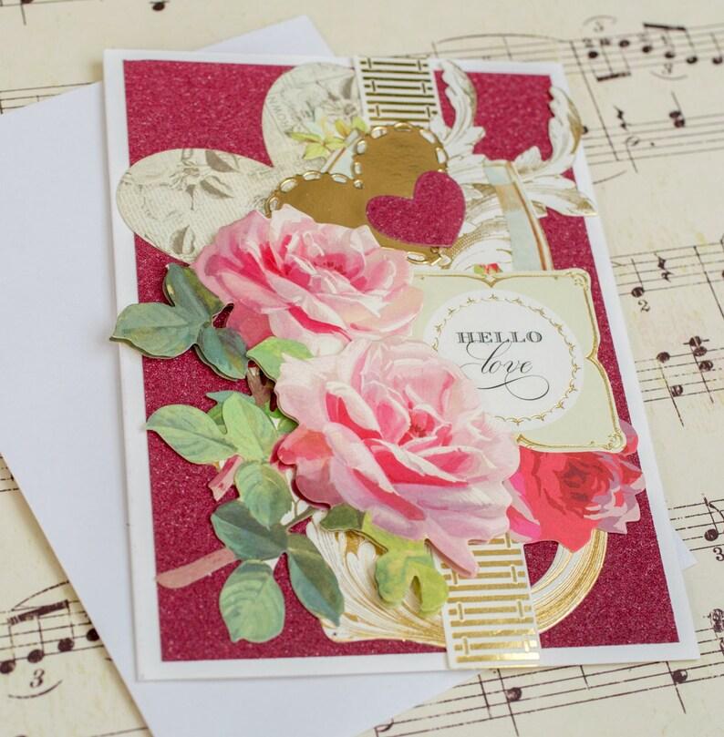 """Belle en bois cadre photo 5/"""" x 7/"""" Mariage fiançailles amour Valentine Cadeau"""