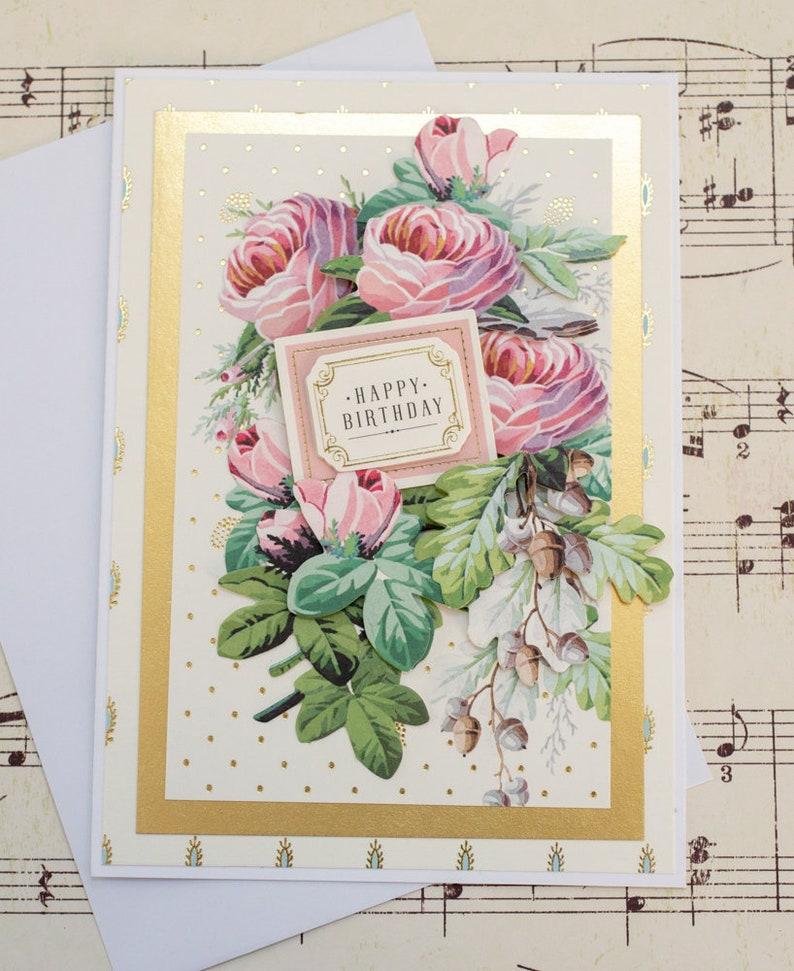 Birthday Card For Her Feminine Blank Greeting