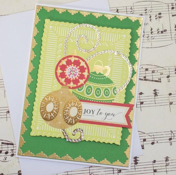 Elegant Handmade Christmas Ornaments.Elegant Holiday Ornament Card 3d Handmade Christmas Card Christmas Gift For Friend Festive Christmas Card Blank Holiday Card